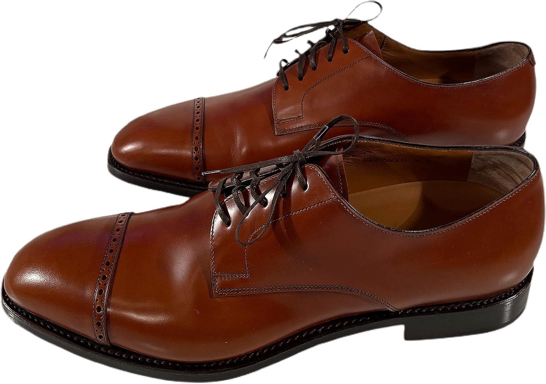 Brooks Brothers Men's Brogue Captoe Leather Oxford Dress Shoes Cognac Size US 11