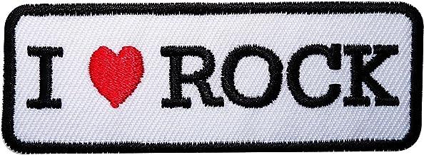 I Love Rock hierro bordado/para coser en la ropa parche bolsa camisa de música insignia