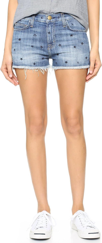 Current Elliott Womens Printed Flat Front Denim Shorts