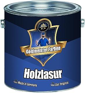 Goldmeister Farben Holzlasur meisterhafte Lasur in 12 verschiedenen Farbtönen Holzöl für Pflege von Holz 5 L, Farblos