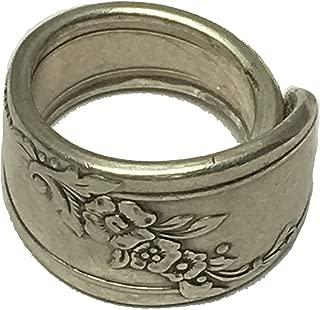 Two Carters & Co Spoon Ring 1946 Queen Bess II Oneida Tudor Silverplate