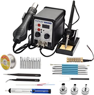 TXINLEI 8586 110V Solder Station, 2 in 1 Digital Display SMD Hot Air Rework Station and..