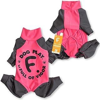 犬猫の服 full of vigor_ドッグプレイ(R)サークルプリントラッシュガード_6/ピンク_D2S_小型犬・ダックス用