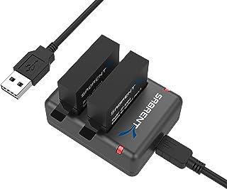 Sabrent Juego de 2 Paquete de batería con cargador de batería dual para GoPro HERO4 [AHDBT-401 AHBBP-401] (GP-KTH4)