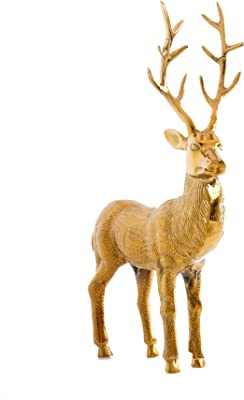 Shiraleah Decorative Reindeer Figurine, Large, Gold