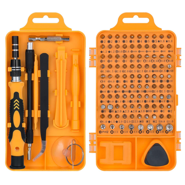 115 en 1 juego de destornillador de precisión, QUIWILL kit de herramientas de reparación de bricolaje profesional para arreglar iPhones, Laptops, Teléfono, Xboxs, Gafas, Reloj, TV, Cámara: Amazon.es: Bricolaje y herramientas