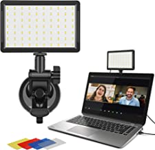 Video Conference Lighting Kit, Valband Laptop Video Conference Light for Remote Working, Computer Video Lights for Zoom Calls, Broadcasting On Tablet/iMac/MacBook/Computer (Cable Control Brightness)