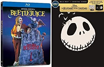 Monsterpiece Double Feature Steelbook The Nightmare Before Christmas Glow in the Dark Blu Ray Animated Limited Edition Mov...