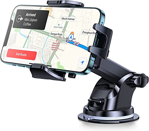 popular Andobil Car high quality Phone Holder Easy Clamp, [Anti Shake] [Strong Suction] Universal new arrival Dashboard Air Vent Windshield Hands-Free Suction Cup Cell Phone Mount Compatible with All Mobile Phones sale