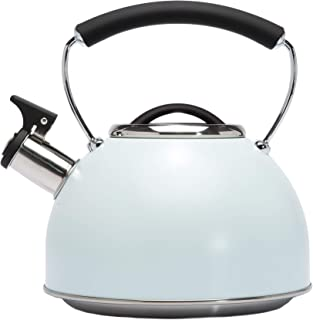 Primula Chelsea Whistling Stovetop Tea Kettle Food Grade Stainless Steel Hot Water, Fast to Boil, Cool Touch Handle, 2.3 Q...