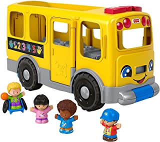 Fisher-Price Little People - Autobús escolar (tamaño grande), color amarillo