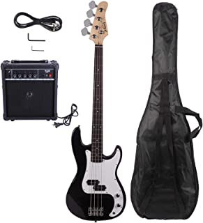 $187 » N&P Electric Bass Guitar Cord Wrench Tool Black, Bass + Bass AMP + Bag +Guitar Strap+Amp Wire + Spanner Tool + Plectrum