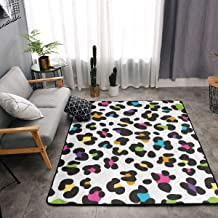 Bedroom Living Room Kitchen Extra Large Kitchen Rugs Home Decor - Colorful Cheetah Leopard Print Floor Mat Doormats Fast Dry Toilet Bath Rug Yoga Mat Throw Rugs Runner