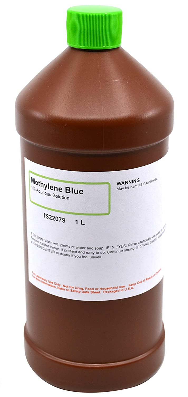 1% Methylene Blue Solution, 1L - The Curated Chemical Collection