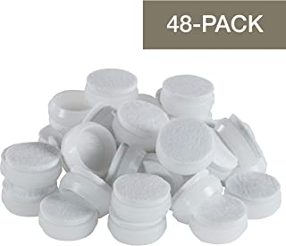Allergen /& Latex Free While Precut For Safety Quiet Furniture Footies Smaller 2.4 Inch Black Precut Tennis Ball Chair Desk Table Leg Floor Protector Pad Glides-4 Count...Smooth