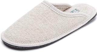 Le Clare Men's Stella Boiled Wool Slipper Memory Foam Insole Made in Italy