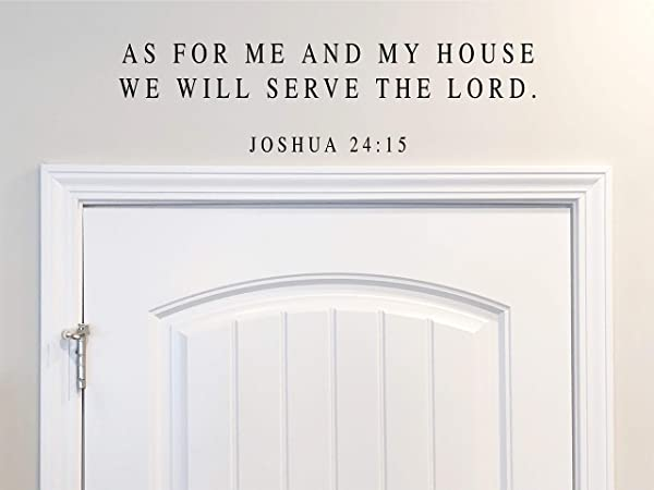 Story Of Home LLC As For Me And My House We Will Serve The Lord Religious Bible Verse Wall Decal Vinyl Wall Art Home Decor Sticker