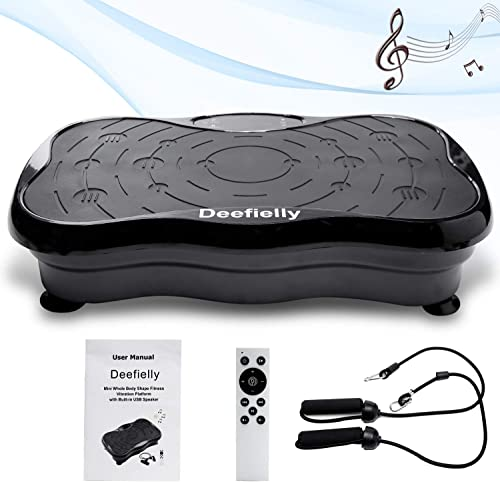 Deefielly Mini Vibration Plate Exercise Machine Whole Body Workout Fitness Vibration Platform Machine Home Training E...