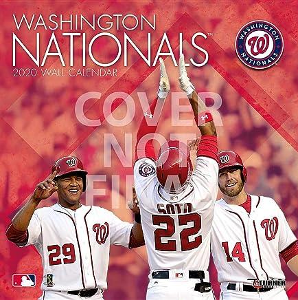 Washington Nationals Schedule 2020.Washington Nationals 2020 12x12 Team Wall Calendar Lang