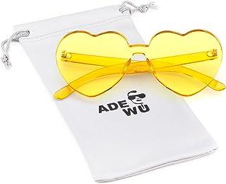 c76c07e42f ADEWU Gafas de sol sin montura Gafas de sol con forma de corazón en forma de
