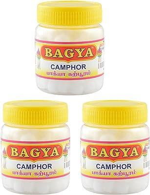 Bagya's Camphor (1.5 cm x 1 cm x 5 cm, White, 3 Bottles, 50 Pieces Each, BLCW45)