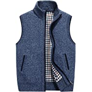 Msmsse Men's Casual Knitted Cardigan Sweate Thick Full Zip Utility Pocket
