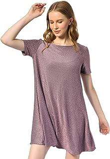 OEUVRE Women's Glitzy Tunic Dress Shiny Metallic Thread Party Wear Plus Size