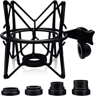 Boseen Studio Condenser Metal Microphone Spider Shock Mount Holder Clip Anti Vibration Suspension High Isolation, Ideal for Radio Broadcasting Studio, Voice-over Sound Studio and Recording(Black)