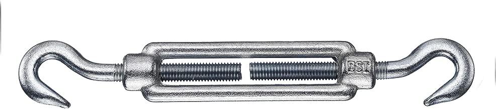 M12 BIAT /® Spannschloss nach DIN 1480 mit 2 Haken M10 M8 M24 M16 M20 verzinkte Ausf/ührung Gr/ö/ßen M6