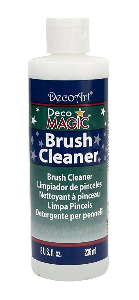 DecoArt DS3-9 DecoMagic Brush Cleaner, 8-Ounce, DecoMagic Brush Cleaner