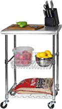 Best stainless steel kitchen work table cart Reviews