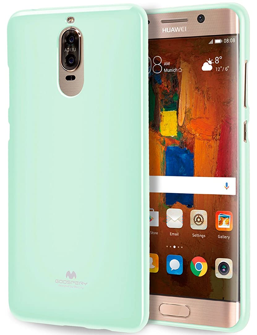 GOOSPERY Marlang Marlang Huawei Mate 9 Pro case - Mint Green, Free Screen Protector [Slim Fit] TPU Case [Flexible] Pearl Jelly [Protection] Bumper Cover for Huawei Mate9Pro, HWMT9PR-JEL/SP-MNT