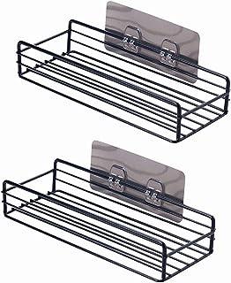 Ecool 浴室ラック バスラック シャワーラック お風呂 棚 洗面所 調味料 収納 壁面収納 強力粘着固定 壁掛け 2個入れ