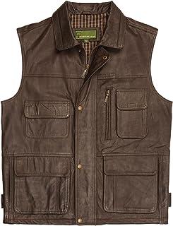 HIDEPARK Alf: Men's Brown Leather Vest