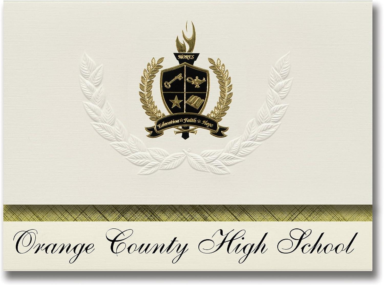 Signature Ankündigungen Orange Orange Orange county High School (Orange, VA) Graduation Ankündigungen, Presidential Stil, Elite Paket 25 Stück mit Gold & Schwarz Metallic Folie Dichtung B078TT772P | Wonderful  087983