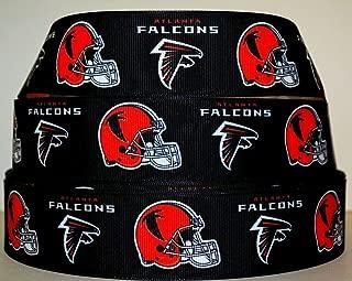 7/8 Inch Football Ribbon Grosgrain Atlanta Falcons Hair Bows Crafts 3 Yards