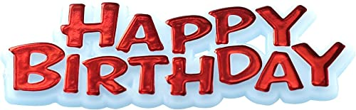 tomamos a los clientes como nuestro dios CREATIVE PARTY Happy Birthday Motto Cake Toppers Toppers Toppers rojo  orden ahora disfrutar de gran descuento