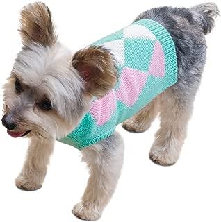 Stinky G Argyle Patterned Sleeveless Dog Pet Sweater