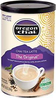 Oregon Chai Original Chai Tea Latte Powdered Mix 10-Ounce Containers , Powdered Spiced Black Tea Latte Mix For Home Use, Café, Food Service - PACK OF 6