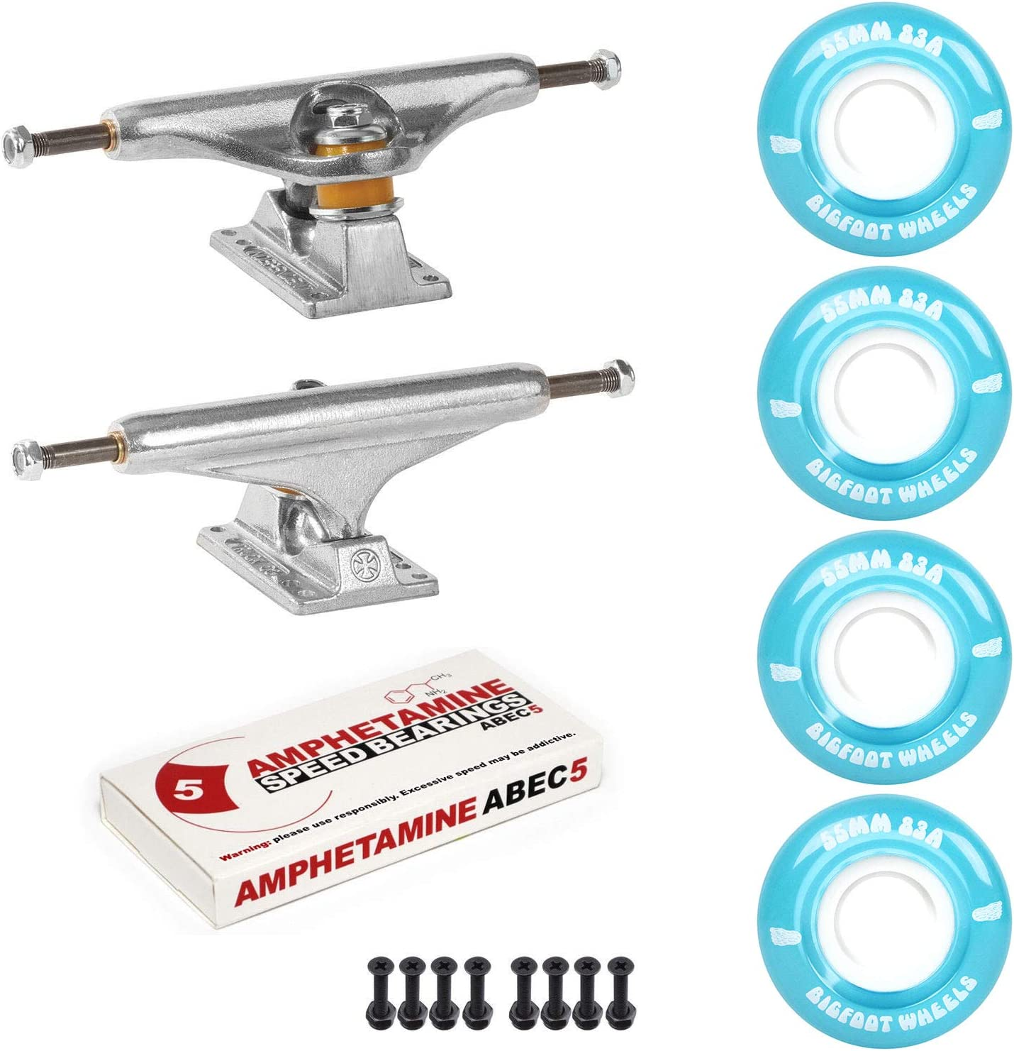 Independent Trucks Skateboard 83A Cruiser Wheels 5 Package Ranking TOP13 Max 61% OFF ABEC