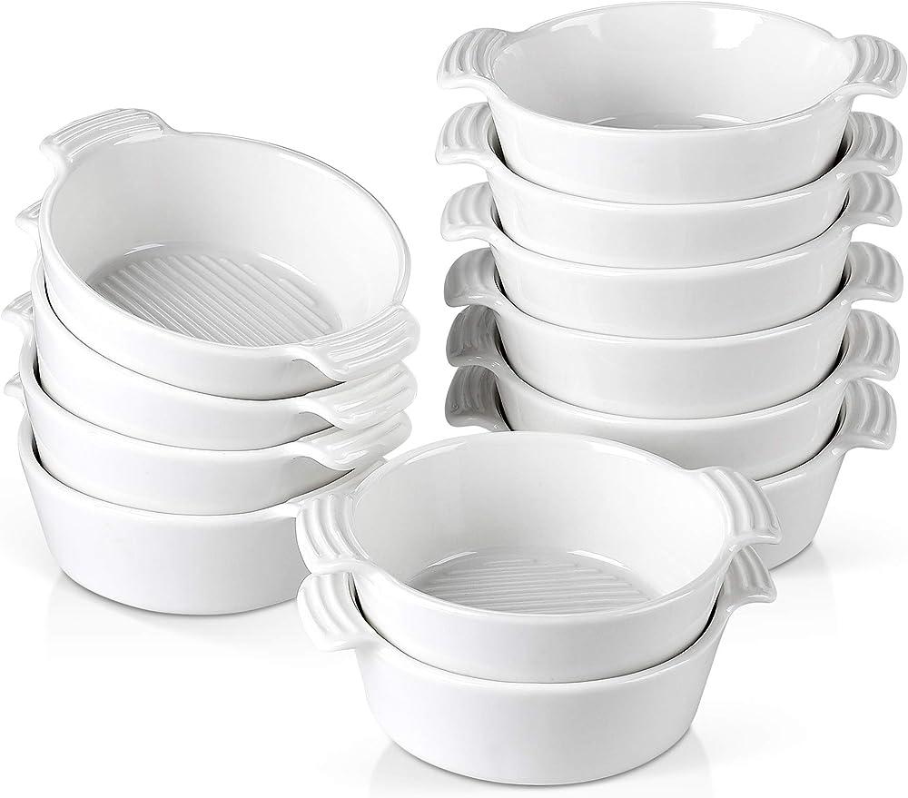 Malacasa , mini teglie ovali  da forno , in ceramica , 12 pezzi BAKE-MINI-008*2