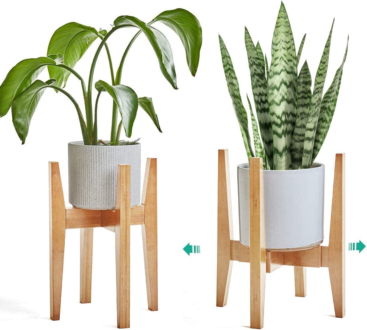 IYEBRAO 2 Pack Mid Century Adjust Al Popular products sold out. Wood Indoor Stand-Bamboo Plant