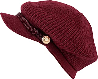 WITHMOONS Women Winter Knit Newsboy Caps Lady Warm Baker Beanie Hat SLG1226