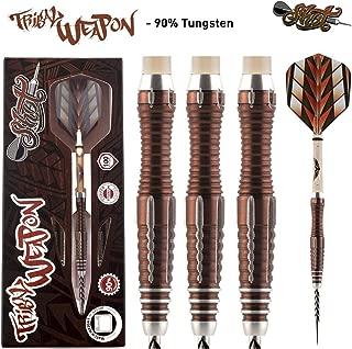 Shot! Darts Tribal Weapon-Steel Tip Dart Set-Front Weighted-90% Tungsten Barrels