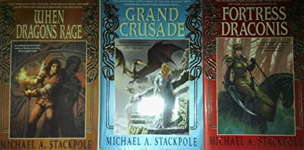 Author Michael A. Stackpole Three Book Bundle Collection, Includes: When Dragons Rage - The Grand Crusade - Fortress Draconis