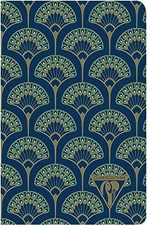 """Clairefontaine Notatnik""""Neo Deco"""", 9 x 14 cm, w linie, 48 arkuszy - niebieski paw"""