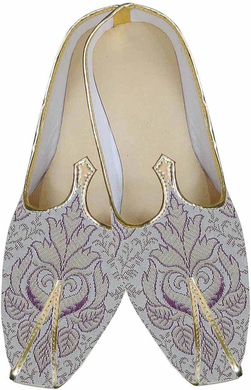 INMONARCH Mens Purple Indian Wedding shoes Designer MJ0155