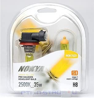 JDM H8 Nokya 2500k Hyper Yellow Head/fog Light Bulbs