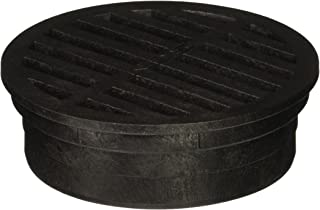 NDS 11 Plastic Round Grate, 4-Inch, Black