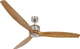 LUCCI AIR Airfusion Akmani DC ventilador, 36W), color cromado